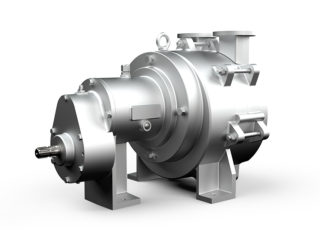 Bomba de vácuo e pressão de anel líquido 12 m³/min de ar.